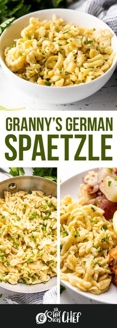 dinner recipes for family main dishes Granny's German Spaetzle is an authentic spaetzle recipe passed down in a German family for generations. Pasta Recipes, Dinner Recipes, Cooking Recipes, German Recipes Dinner, Pasta Dishes, Food Dishes, Main Dishes, Side Dishes, Bratwurst