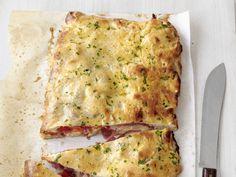 Salami-Mozzarella Calzone Recipe : Food Network Kitchens : Food Network - FoodNetwork.com