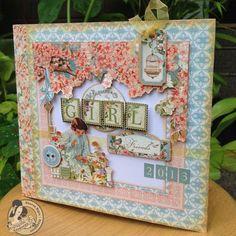 @Sharon Ngoo made this mini album from an 8x8 Secret Garden paper pad! So beautiful and creative! #graphic45 #tutorials #minialbum