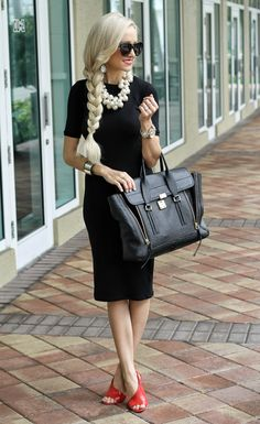 This makes me want a long, blonde, braid! Oh - and I like the outfit, too! A Spoonful of Style