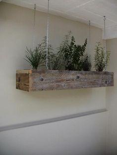 hanging-herb-garden. Cool idea!