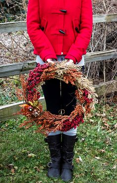 A wreath i can make for my front door.