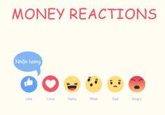 """Và đây là phản ứng của các """"chú"""" icon Facebook mới khi nói về… tiền.  https://media.giphy.com/media/3ornjReZgRqjN6lAFG/giphy.gif"""