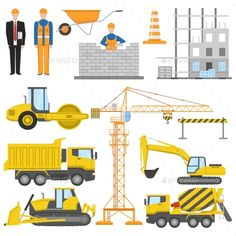 Construction Flat Elements Set