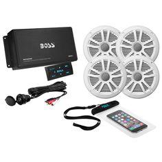 Boss Audio ASK904B.64 4-Channel Bluetooth Amplifier w/4 Speakers