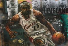 LeBron James, Cleveland Cavaliers art, check out more photos at http://www.TheSportsWonk.com