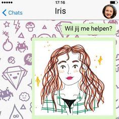 KRO-NCRV lanceert Iris, een virtueel karakter waarmee je kunt whatsappen, in…