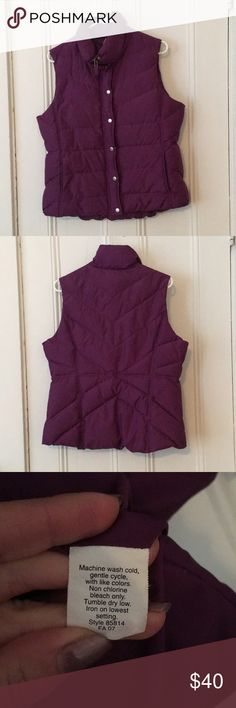 J.Crew Factory Puffer Vest. Pretty purple down Vest from J.Crew Factory. I've had this Vest for 10 years but I've hardly ever worn it as I'm not much of a puffer Vest girl. The pockets are fleece-lined! So nice! J. Crew Jackets & Coats Vests