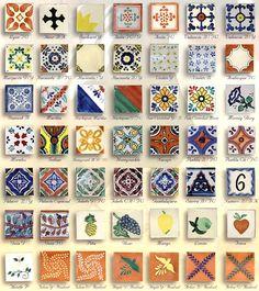 Talavera tiles.  LOVE talavera! ... http://www.oldvallarta.com/?p=9194