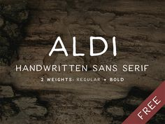 I started this font on Friday for some practice. I hope it satisfies some design needs for a simple, solid, handwritten typeface!  ALDI: A free handwritten font in 2 weights. Plain and simple. Enjo...