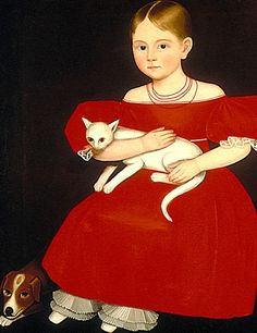 Ammi Phillips. Girl with a cat.
