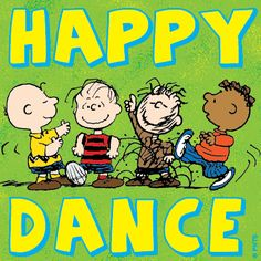 Happy Dance - Charlie Brown & the Boys Snoopy Happy Dance, Snoopy Love, Snoopy And Woodstock, Peanuts Cartoon, Peanuts Snoopy, Peanuts Comics, Images Snoopy, Line Dance, Peanuts Characters