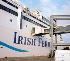 This ferry goes from London-->Dublin. Site with info: www.seat61.com/Ireland.htm. :)