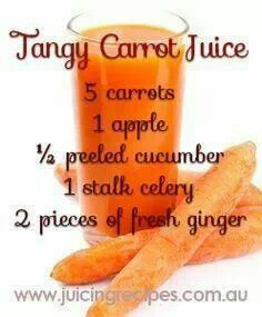 Vegetable Juice - Tips And Tricks To Get The Most From Your Juicer! - Juicing Recipes Tips carrots contain high amounts of beta carotene. Be sure to check out this helpful article. Healthy Juice Recipes, Juicer Recipes, Healthy Juices, Healthy Smoothies, Healthy Drinks, Carrot Juice Recipes, Detox Juices, Carrot Juice Benefits, Homemade Smoothies