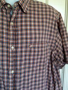Ralph Lauren Polo Jean Co XL Men's Plaid Check Shirt Flag logo Vintage #RalphLaurenJeanCo #ButtonFront