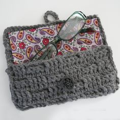 Crochet an eyeglasses case with a great tutorial at Dream a Little Bigger