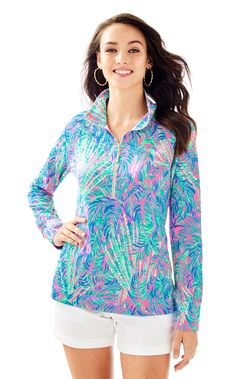 3800fd21b38 Lilly Pulitzer Upf 50+ Skipper Printed Popover - Pink Sunset Coco Breeze  XXS Lady Pirate