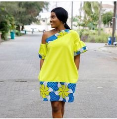 Creatively Stylish Ankara Cross Shoulder Short Gown Dress For The Fashionistas African Print Dresses, African Fashion Dresses, African Dress, Fashion Outfits, African American Fashion, African Print Fashion, Africa Fashion, African Attire, African Wear