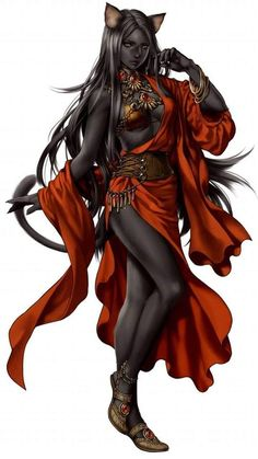 Cat woman, fantasy race and character inspiration High Fantasy, Fantasy Races, Fantasy Women, Fantasy Rpg, Fantasy Girl, Fantasy Artwork, Character Portraits, Character Art, Character Ideas