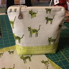 Cotton and Steel Tiger Fabric Zippered Pouch  by Clothstitched