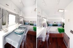Great space saving idea for dining in a trailer, rv, or tiny house!