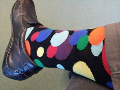 Dots! Duchamp makes high quality socks with colors that pop and exciting designs.