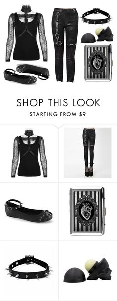 """""""Goth Punk"""" by rebelsmarket-0 on Polyvore featuring black, rebel, Punk, goth and rebelsmarket"""
