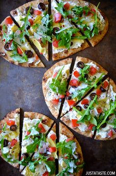 Artichoke Flatbread |  Indulge your pizza passion with the latest feature! #Homemaderecipes