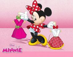 Minnie Mouse hmmm which one would mickey like better Walt Disney, Disney Magic, Disney Mickey, Disney Art, Minnie Mouse Pics, Mickey Mouse And Friends, Mickey Minnie Mouse, Disney Cartoon Characters, Cute Characters