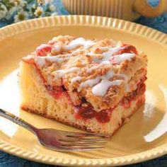Cherry Coffee Cake - I made this with Apple Pie Filling instead of cherry... SOOO GOOD!