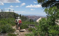 Hikers on the West Rim Trail. #CML http://www.nps.gov/zion/planyourvisit/hiking-in-zion.htm