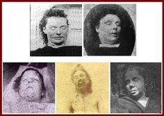 The victims of Jack: Top row: Elizabeth Stride . . . Annie Chapman Bottom row: Mary Ann (Polly) Nichols, Mary Jane Kelly, Catharine Eddowes