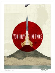 Alternative poster for YOU ONLY LIVE TWICE which is way better than this sorry mess of a movie.