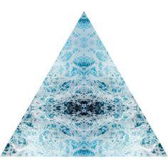 Splash Nature Themed Fabric Wall Sticker (Triangle)