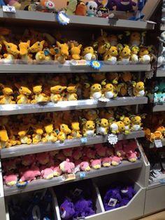 Pokemon Photos from Tokyo - Raichu Charizard Slowpoke Gengar plush dolls I'd go broke...