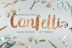 Confetti font by Julia Dreams on Creative Market
