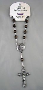 Auto Rosary For Your Car ST CHRISTOPHER Protect Us Travelers Prayer. ww.Gods411.com