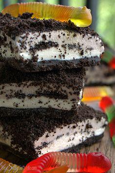 Frozen Dirt Cake Bars