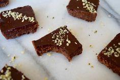 Double Dark Chocolate No Bake Brownies