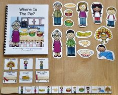 """Thanksgiving FreeThis Thanksgiving Free Adapted Book, """"Where is the Pie?""""  is super-fun and interactive Thanksgiving story that focuses on basic Thanksgiving themed vocabulary, matching skills, position words, Wh-questions, and sequencing story events."""