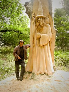 """Wizzard"" Chainsaw Carving ~ Scotland"