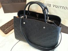 Louis Vuitton Montaigne GM emprinte leather black
