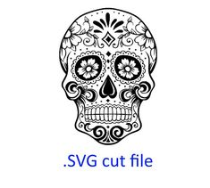 Hey, I found this really awesome Etsy listing at https://www.etsy.com/listing/259863061/sugar-skull-svg-files-for-silhouette