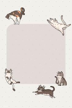 Cat Doodle, Note Doodles, Cat Vector, Vector Graphics, Notes Template, Cute Notes, Kawaii Wallpaper, Cute Cartoon Wallpapers, Writing Paper