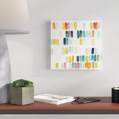 Wrought Studio 'Bright Swatches I' Painting on Canvas Diy Wall Art, Canvas Wall Art, Canvas Prints, Mini Canvas, Canvas Size, Canvas Online, Simple Prints, Easy Paintings, Room Paint