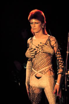 David Bowie as Ziggy Stardust of The 1970s David Bowie (aka Ziggy Stardust) wearing a sensational creation by Kansai Yamamoto. Born in Yokohama in 1944, the Japanese fashion designer was only 27 when he held his first international fashion show in London in 1971.