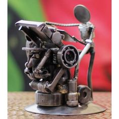 Recycled metal sculpture, 'Rustic Printer' from They help succeed worldwide. By Armando Ramírez Martial Arts Weapons, Martial Arts Styles, Japanese Karate, Metal Sculpture Wall Art, Scrap Recycling, Scrap Metal Art, Metal Artwork, Decoration, Art Images
