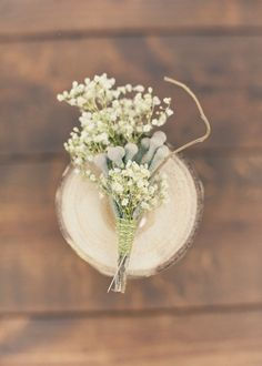 baby's breath boutonniere // photo by Alixann Loosle