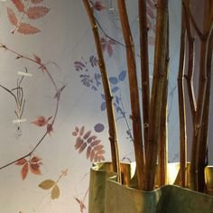 Wallpaper 'Dutch Garden' in copper. Little Owl Design