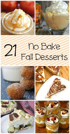 21 No Bake Fall Desserts